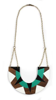 Tribal UShape Wood Necklace by vozcollective on Etsy, $45.00