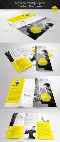 Modern Multipurpose Trifold Brochure - Corporate Brochures