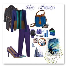 """""""Blue Saturday"""" by iioutfitii on Polyvore featuring Barbara Casasola, Bobbi Brown Cosmetics, WearAll, Etro, Louis Vuitton, Effy Jewelry, Bling Jewelry, Lipstick Queen, Bomedo and Universal Lighting and Decor"""