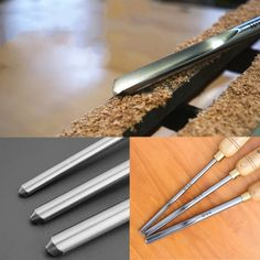 HSS A2001 A2002 A2003 Bowl Gouge Set Wood Lathe Turning Woodworking Tools | Geek High Speed Steel, Wood Lathe, Wooden Handles, Woodworking Tools, Turning, Geek Stuff, Tableware, Design, Wood Working