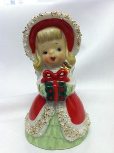Lefton Christmas Angel with Gift