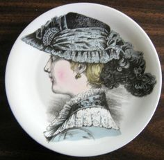 Decorative Dishes - French Lace Victorian Hat Fashion Porcelain Plate Melle Josephine, $19.99 (http://www.decorativedishes.net/french-lace-victorian-hat-fashion-porcelain-plate-melle-josephine/)
