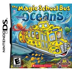 Magic School Bus Oceans DS Game, Magic School Bus Game, Nintendo DS Video Game, Action Adventure Video Game