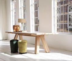 Bart Lens Lens Table - Solid oak dining table. #VanRossum #BartLens