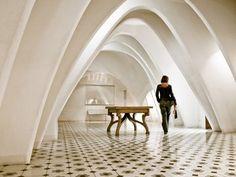 Antionio Gaudi interior.   From a dream...
