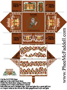 Gingerbread house (Free printable)
