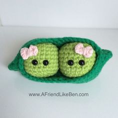 Two peas in a pod for my friend who just gave birth to 2 beautiful twin girls…