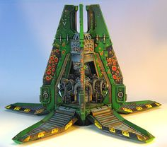 The only plastic Spacemarine Drop Pod James Wappel will ever paint. In Salamanders colors, plastic model made by GW of course...