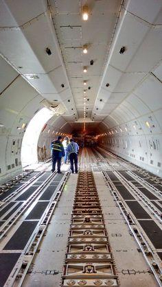 Air Bridge Cargo Boeing747-8F freighter interior