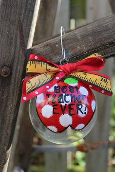 Cutest teacher gift! Custom Monogrammed Ornament Made to Order by ...