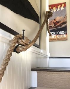 detail of a Rope Railing via Completely Coastal Inspired Living