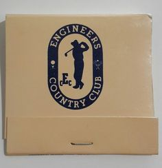 Engineers Country Club Matchbook Roslyn Harbor Long Island NY Golf Tennis 1980s #Reversestrikematchbook