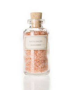 A sensual, floral aroma imbues these mineral-rich salts to ease the mind, soothe… Himalayan Salt Bath, Himalayan Salt Crystals, Bath Soap, Bath Salts, Bridal Shower Favours, Soap Packaging, Packaging Ideas, Bath And Bodyworks, Diy Spa