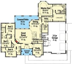Plan 48445FM: Secluded Master Suite and a Safe Room