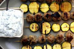 kefta and zucchini skewers by smitten, via Flickr