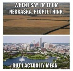 When I say we lived in NE for 5 and a half years. Just kidding, I mean the top picture.