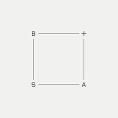 B+SA Contemporary monogram by British freelance logo designer Richard Baird - www.richardbaird.co.uk