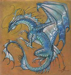Blue Agate Dragon by AlviaAlcedo.deviantart.com on @deviantART