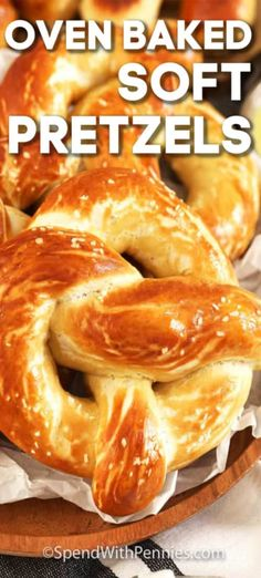 This soft pretzel recipe uses dough made from scratch. It is formed into pretzels, boiled, brushed with an egg wash baked until crispy outside with a soft inside. Serve with an assortment of dips for the best appetizer! Baked Pretzels, Homemade Soft Pretzels, Pretzels Recipe, No Yeast Pretzel Recipe, Easy Bake Oven Pretzel Recipe, Philly Soft Pretzel Recipe, Soft Pretzel Recipes, Appetizer Recipes, Appetizers