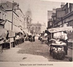 Salmon Lane and the church of St. Anne's, Limehouse