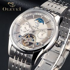 99.00$  Watch now - http://alis1e.worldwells.pw/go.php?t=32754963614 - Luxury Brand OLEYKI Tourbillon Watches Men 3 Styles Partitio Serie Waterproof Fashion Automatic Self-Wind Watch Gold Clock Gifts
