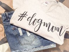 Dog Mom Tee/Dog Mom T-Shirt/DogMom Tee/dogmom by NOTICECo on Etsy