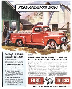 vintage ford ads | Classic Ford Trucks - 1948 Ford Trucks, First Year for the F-Series ...