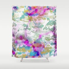 Colors and Vibes 1 Shower Curtain by jamcolorsvibes Curtains, Shower, Abstract, Colors, Prints, Products, Insulated Curtains, Blinds, Rain Shower Heads