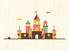 Drawing castles again, this time for an actual project though.