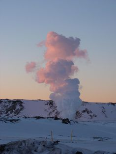 Thermal steam at dawn February 15