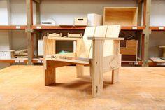 cadeira de pallet madeira