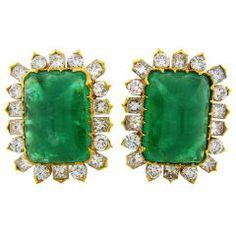 Fourtane Enchanting Emerald Earrings