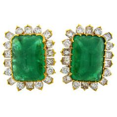 Fourtane Enchanting Emerald Earrings