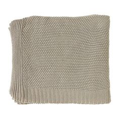 Living Space Knitted Fancy Throw Natural | Spotlight Australia