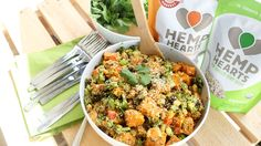 Your food fuels you through your long days, so it's important that what you eat is nutritious. Manitoba Harvest Hemp Hearts are vegan and non-GMO, and adding them to your meals offers you a boost of plant-based protein that's perfect for the mom on the go. Hemp Hearts offer more protein and omegas 3 and...