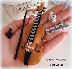 violino feltro - Pesquisa Google