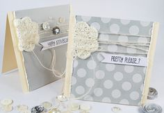 great use of crochet in cards