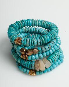Sisco Berluti Essentials Bracelet in Turquoise