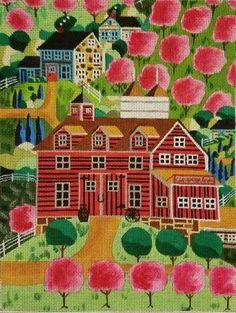 Ewe And I NeedlepointBRCherry Bloom Hills