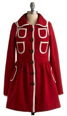 Pink & Red Coat