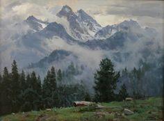 "Babich Aleksandr ""Arkhyz. Fogs After Rain"" - oil, canvas http://www.russianfineart.co/catalog/prod.php?productid=20563"