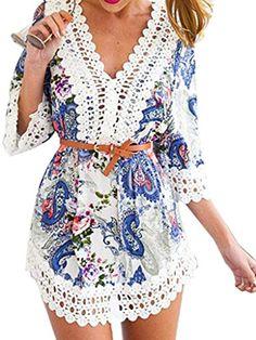 Choies Women's V Neck Lace Embellished Paisley Boho Beach... https://www.amazon.com/dp/B01FQTYV5O/ref=cm_sw_r_pi_dp_x_1timybC0GH5VG
