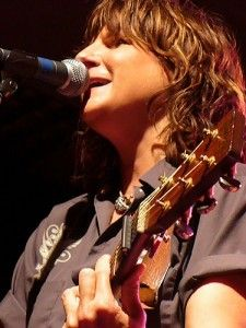 Amy Ray  - who I would grab an Asian boy in my way, flip over mid fall to save him and land on my booty holding him aloft in ATL airport for her autograph for (true story) -Jess as witness