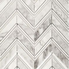 "Shop 10 3/4"" X 11""  Monarch Polished Marble Tile in Carrara & Silver Foil at TileBar.com."