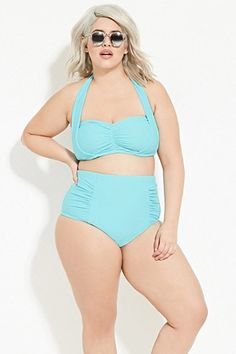 e4b50d832bc Plus Size Ruched High-Waisted Bikini Bottom. Wossel · Swimwear  bikinis for  women