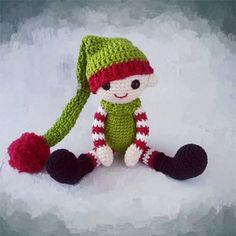 Karácsonyi manó | KreáCicó Amigurumi Toys, Knitting Projects, Yoshi, Baby Toys, Christmas Time, Crochet Patterns, Crochet Hats, Dolls, Crafts