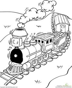 Toy Train Coloring Page | Worksheets, Toy and Craft