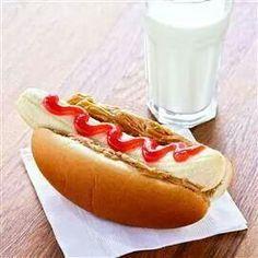 Yum. Pb&j hotdog.