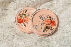 two vintage wide mouth ball freezer zinc caps lids by sparkklejar, $10.50