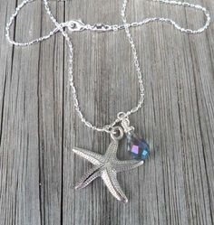 Starfish Necklace Nautical Ocean Summer Sterling Silver One Of A Kind